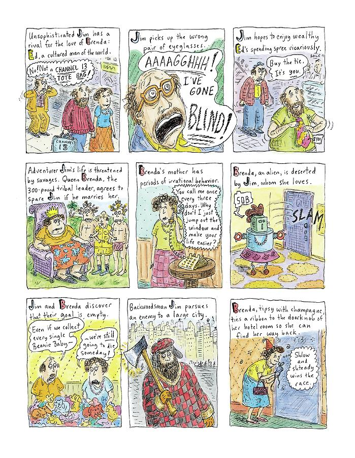 Better Than Chekhov Drawing by Roz Chast