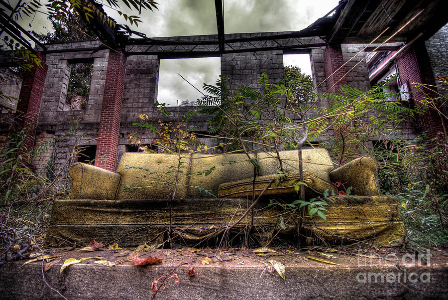 Abandoned Photograph - Big Comfy Couch by Amy Cicconi
