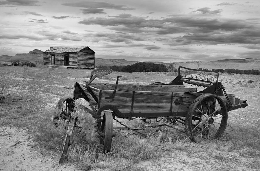 Antiquated Photograph - Bighorn Basin History by Leland D Howard