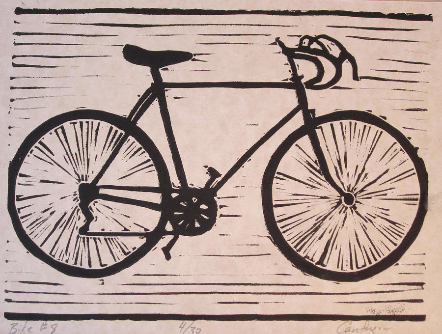 Bike Drawing - Bike 8 by William Cauthern
