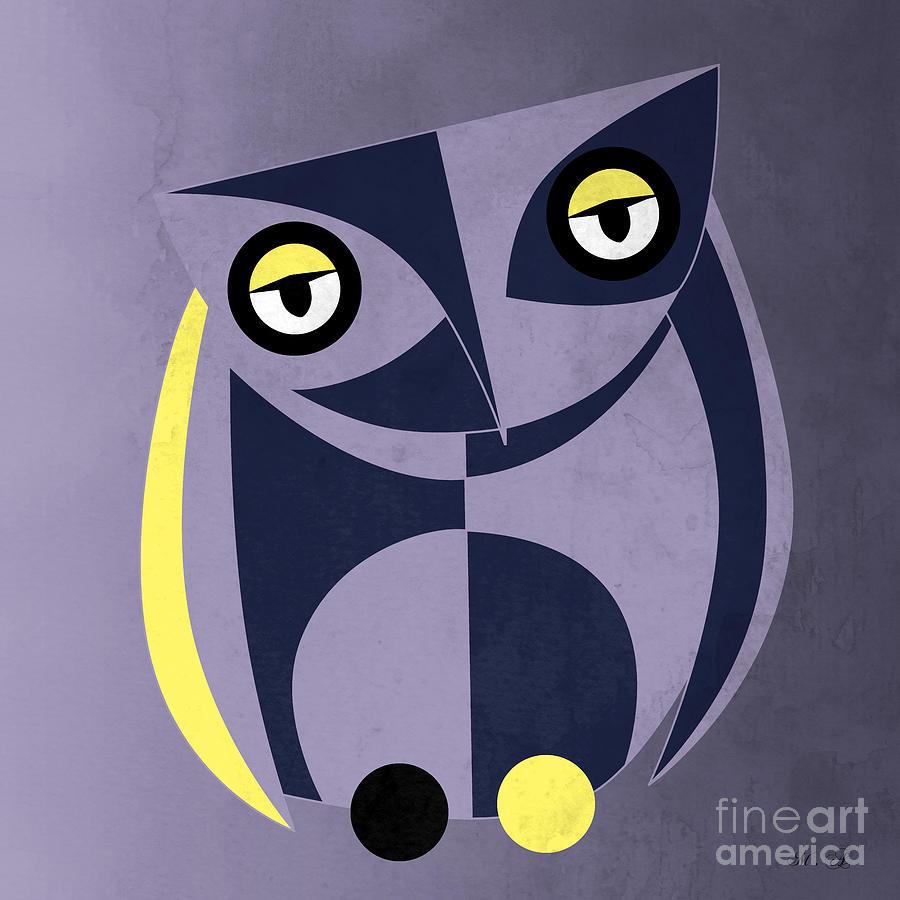 Owl Painting - Bird by Mark Ashkenazi