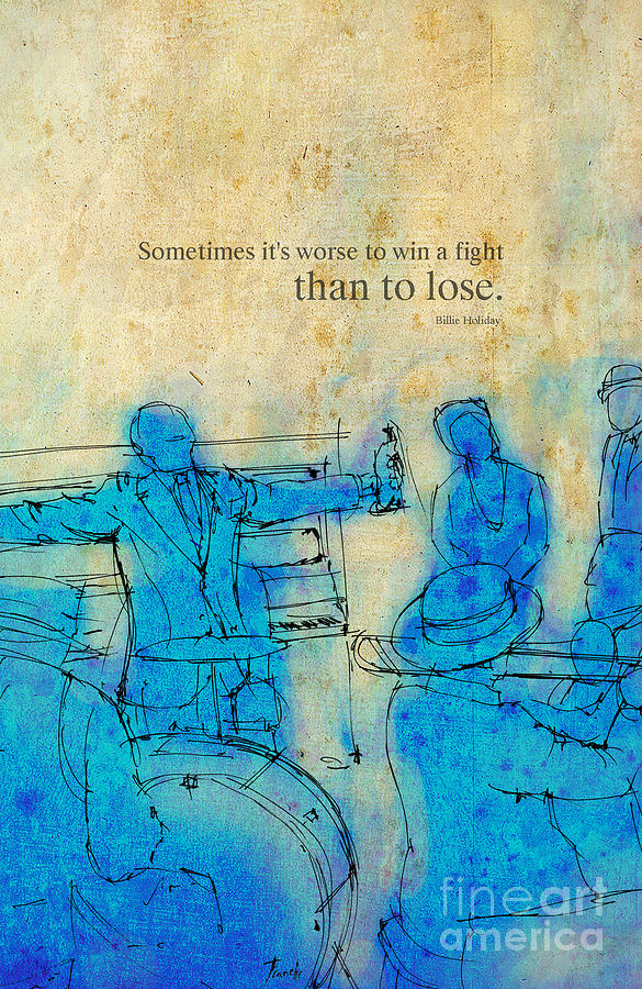 Blue Jazz - Bille Holiday Quote Drawing