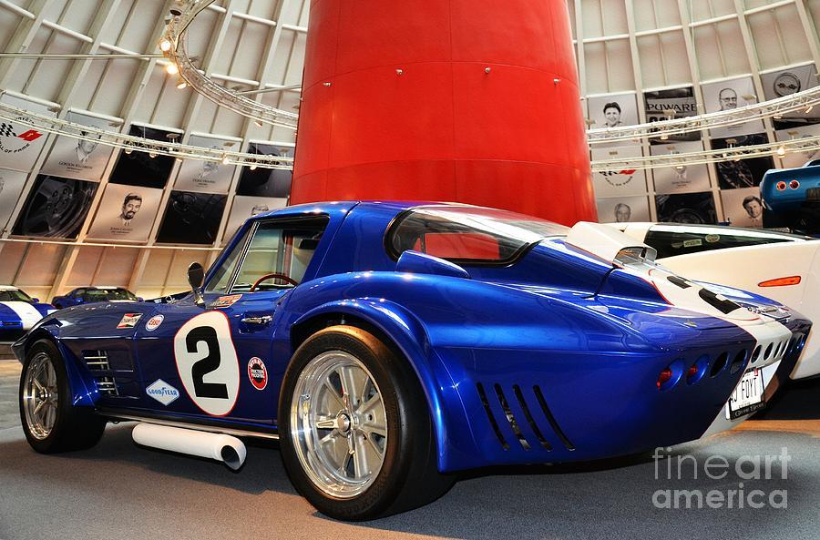 Corvettes Photograph - 2 Blue by Mel Steinhauer