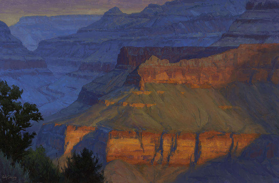 Grand Canyon Painting - Blue Morning by Cody DeLong