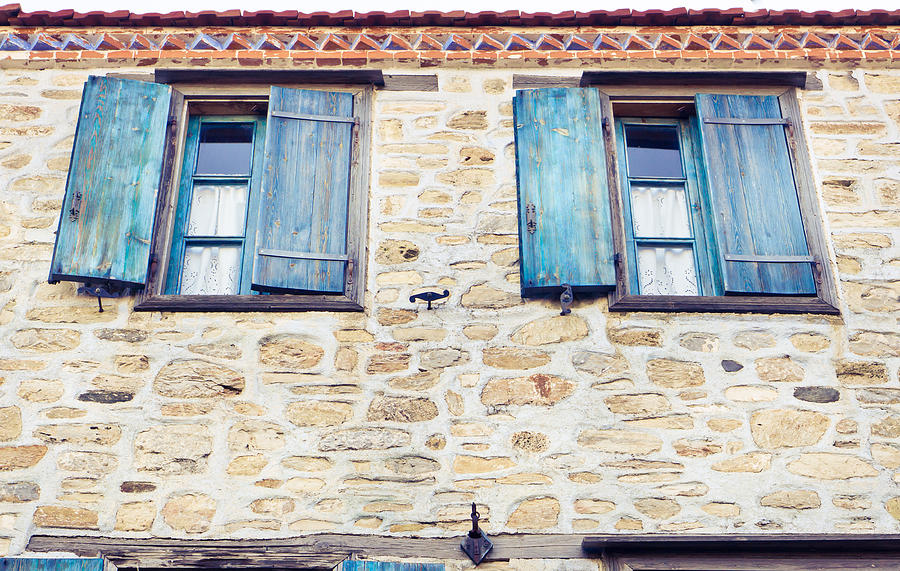 Blue Shutters Photograph