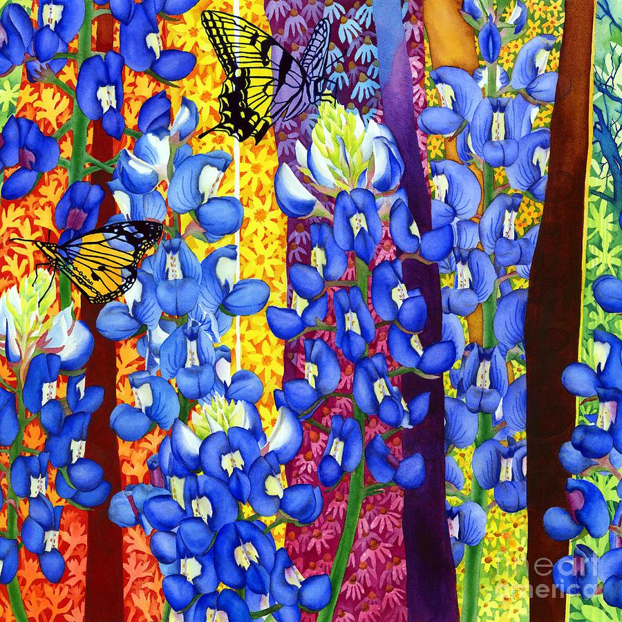 Bluebonnet Garden Painting
