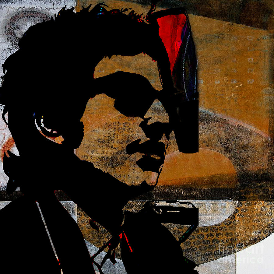 Bob Dylan Recording Session Mixed Media by Marvin Blaine