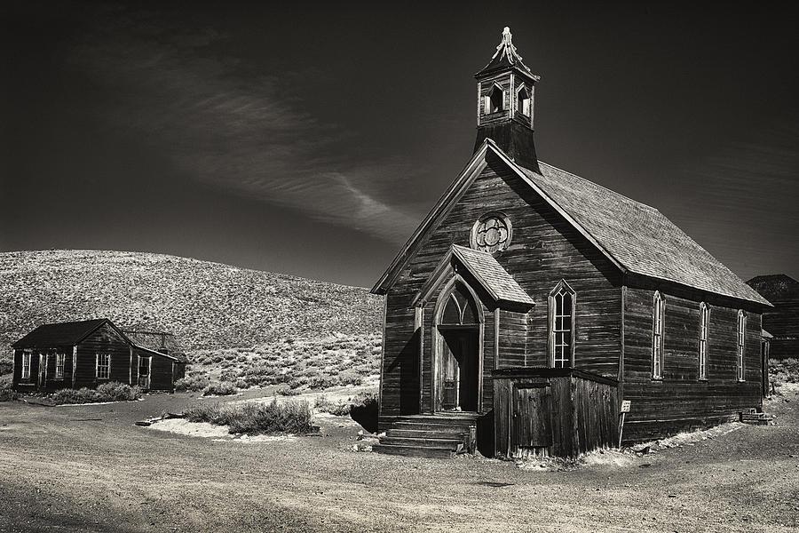California Photograph - Bodie Church by Robert Fawcett