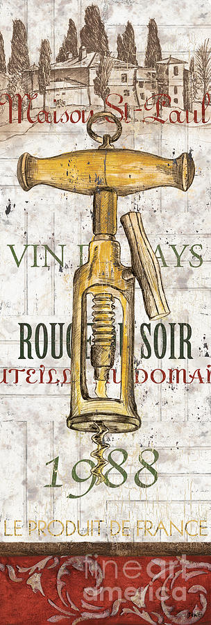 Wine Painting - Bordeaux Blanc 1 by Debbie DeWitt