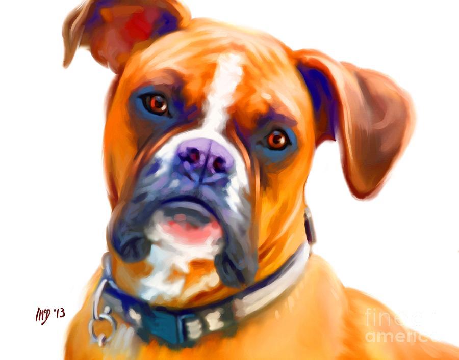 Dog Paintings Painting - Boxer Dog Art by Iain McDonald