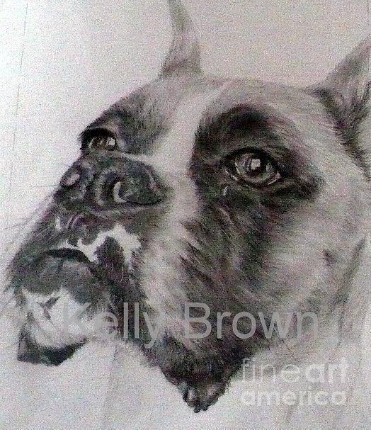 Boxer Drawing - Boxer 2 by Skyrah J Kelly
