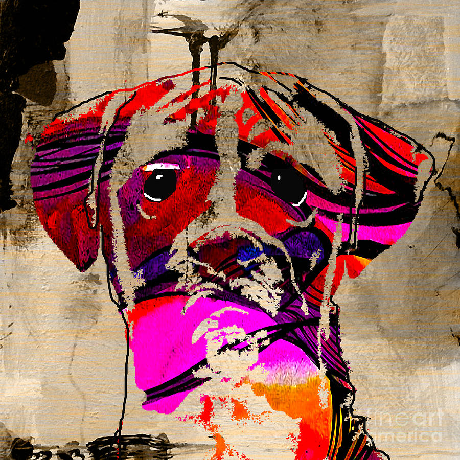 Boxer Dog Mixed Media - Boxer by Marvin Blaine