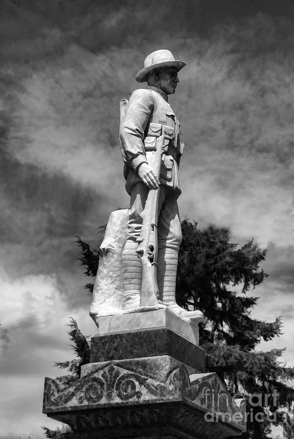 Australia Digital Art - Braidwood  War Memorial by Fran Woods