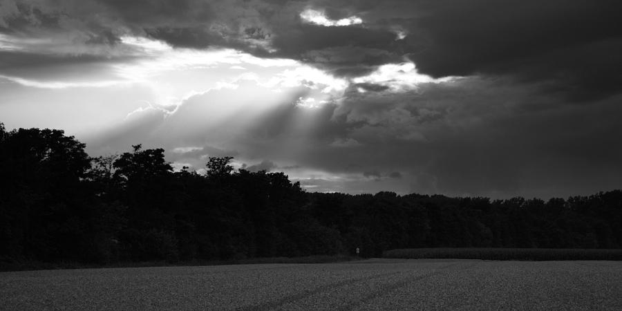 Wheat Photograph - Breaking Storm by Ian Middleton