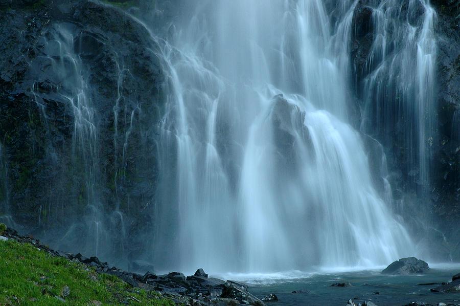 Alaska Photograph - Bridal Veil Falls by Nick  Boren