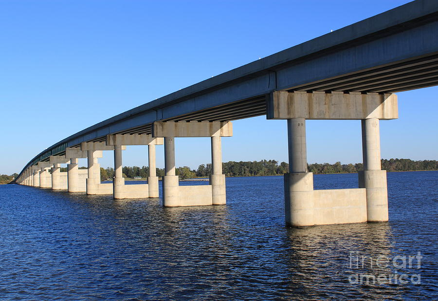 Bridge Over Blue Water Photograph