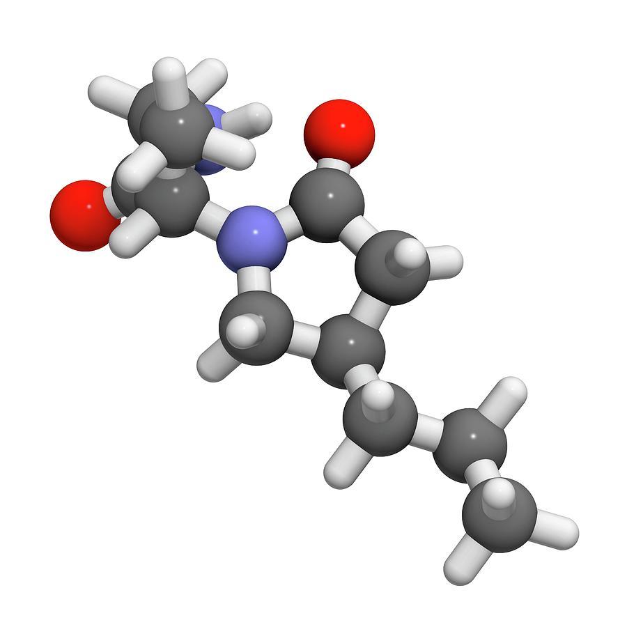 Anticonvulsant Photograph - Brivaracetam Anticonvulsant Drug Molecule by Molekuul