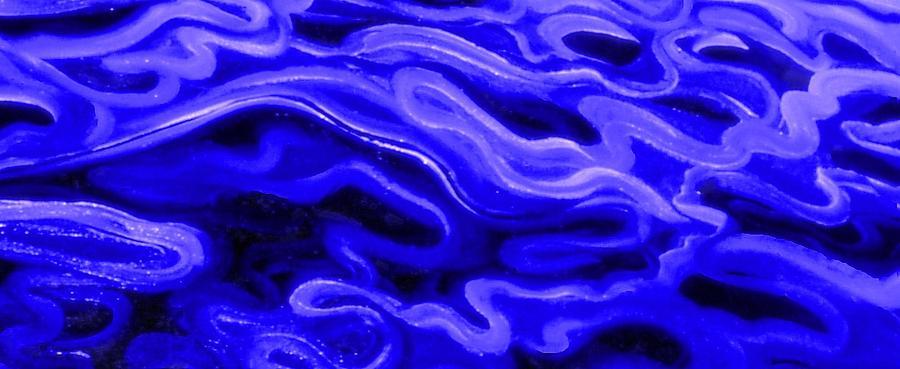Genio Mixed Media - Brush Strokes In Blue by Genio GgXpress