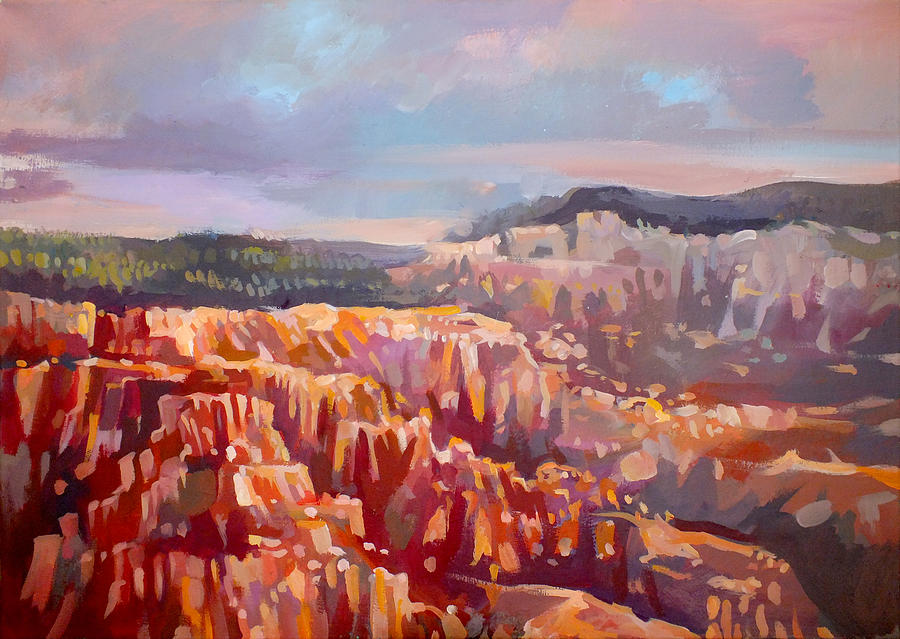 Inspiration Point Painting - Bryce Canyon by Filip Mihail