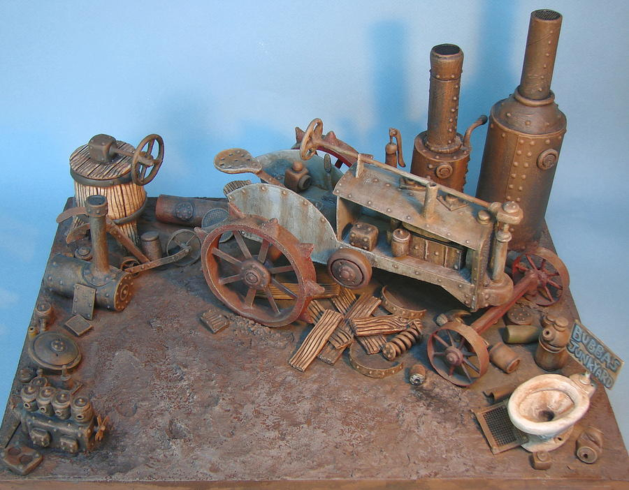 Tractor Sculpture - Bubbas Junkyard by Stuart Swartz