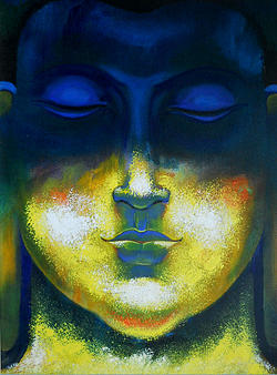 Budda Painting - Buddha by Vijay Adagale