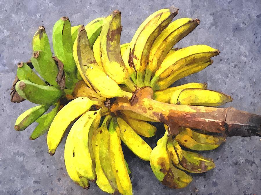 Banana Painting - Bunch Of Banana by Lanjee Chee