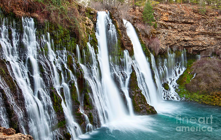Burney Falls Is One Of The Most Beautiful Waterfalls In California Photograph