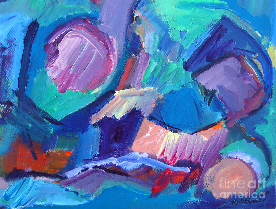 Abstract Painting - Burst of Color by Marlene Robbins