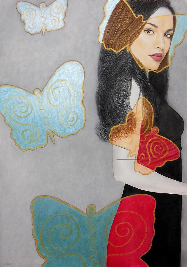 Butterflies Painting - Butterflies by Lynet McDonald