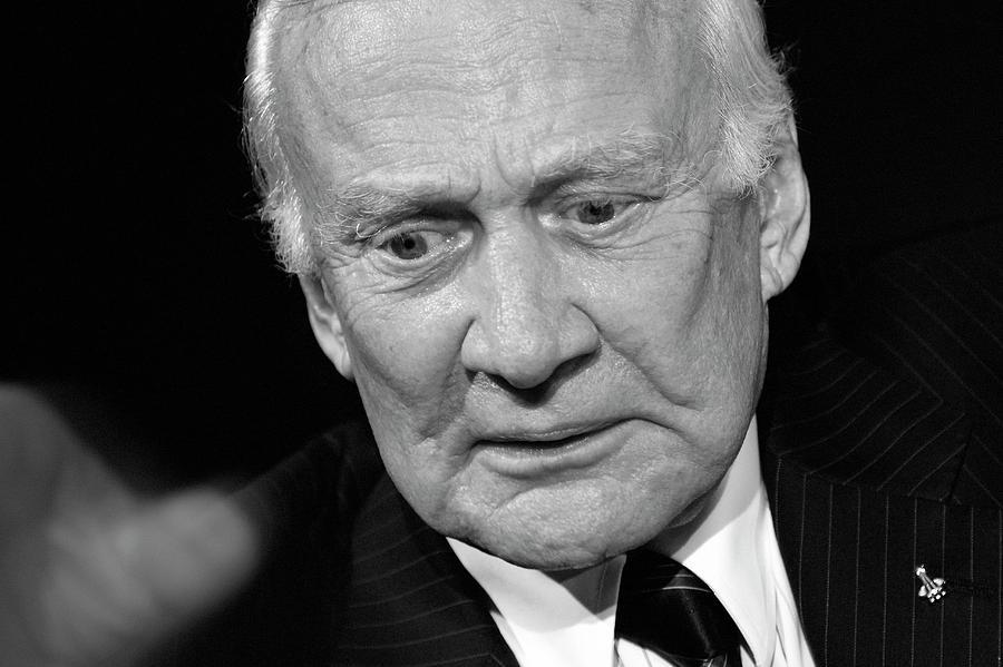 Adult Photograph - Buzz Aldrin by Detlev Van Ravenswaay