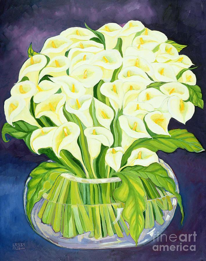 Calla Lilies Painting by Laila Shawa