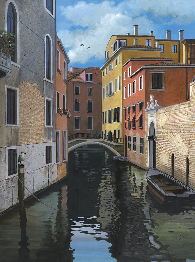 Venice Painting - Canal Rhapsody by Harold Shull