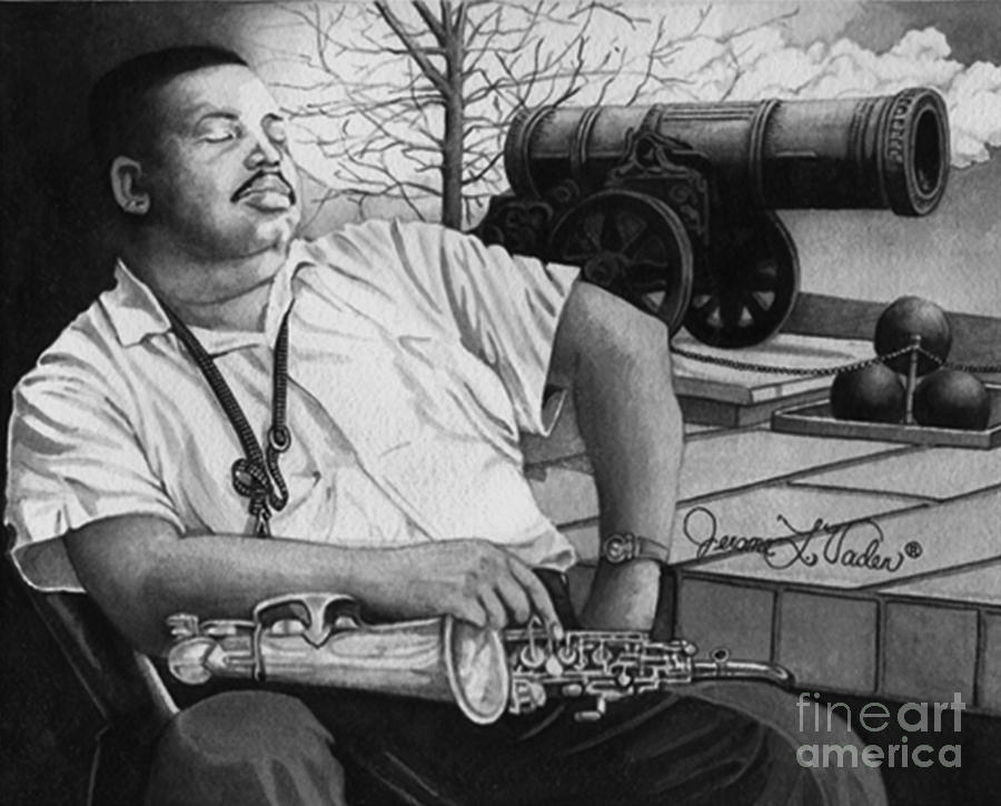 Jazz Painting - Jazz Cannonball Adderly by JL Vaden
