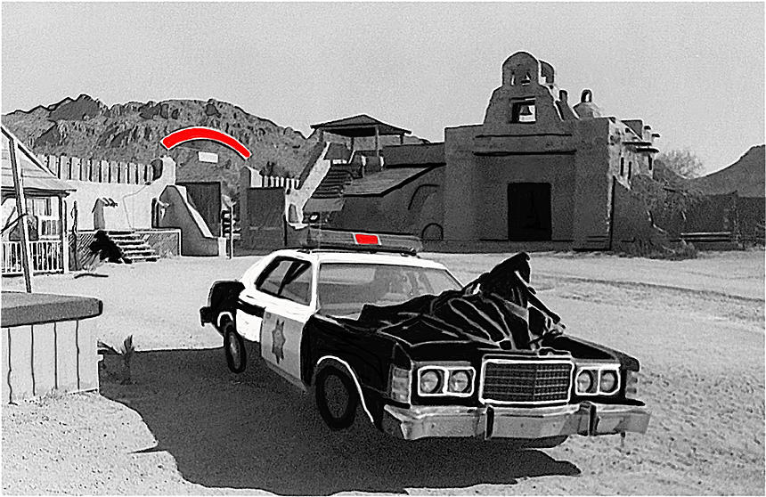 Cannonball Run 2 Brothel Set Mexican Plaza Old Tucson Arizona 1984 Photograph by David Lee Guss