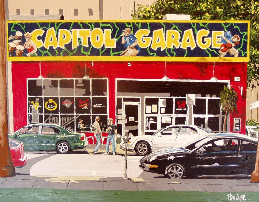 Sacramento Painting - Capitol Garage by Paul Guyer