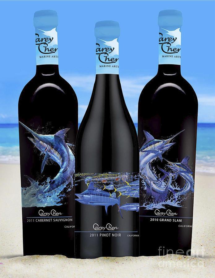 Wines Glass Art - Carey Chen Fine Art Wines by Carey Chen
