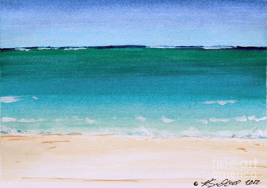 Florida Painting - Ocean Turquoise Waters by Robyn Saunders