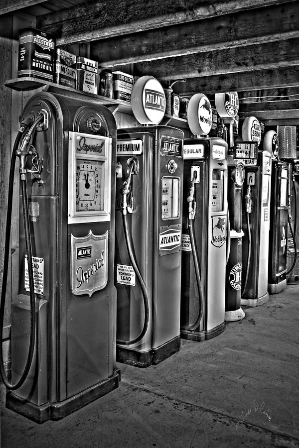 Carls Gas Pumps Photograph by Williams-Cairns Photography LLC