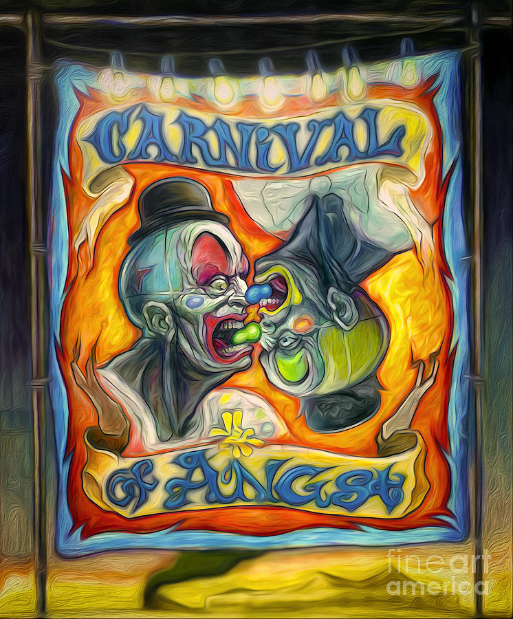 Carnival Banner Painting - Carnival Of Angst by Gregory Dyer