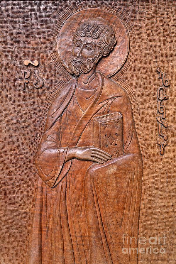Tsminda Photograph - Carved Wooden Door Of The Tsminda Sameba Cathedral by Robert Preston
