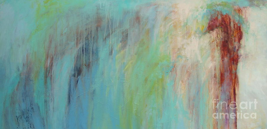Water Painting - Cascade by Virginia Dauth
