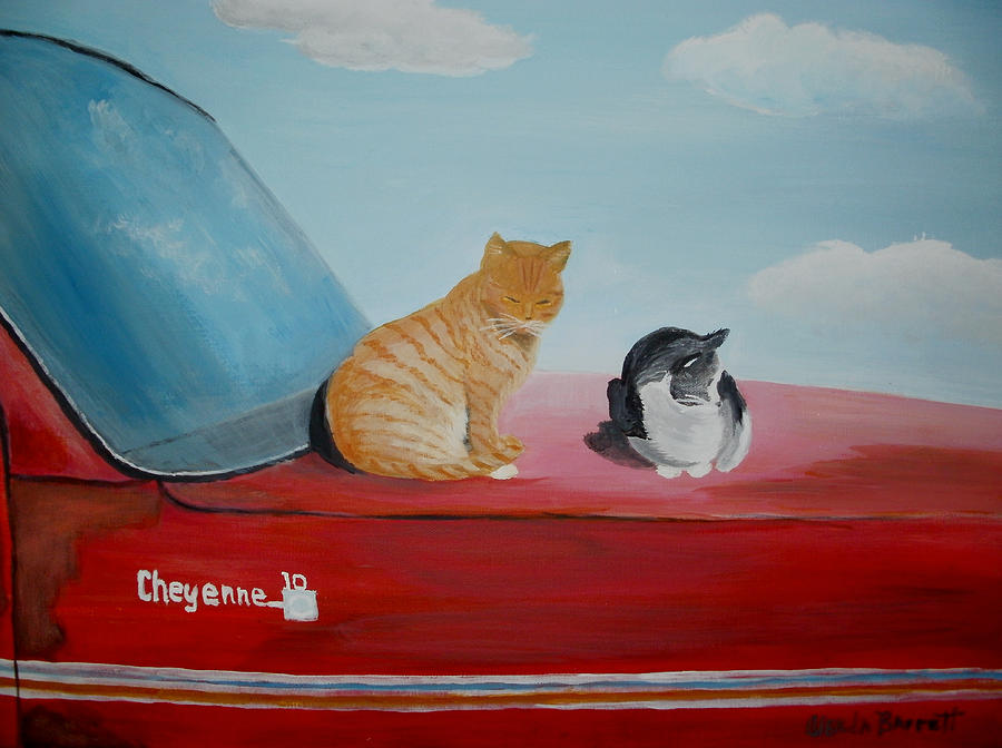 Original Painting - Cat Nap by Glenda Barrett