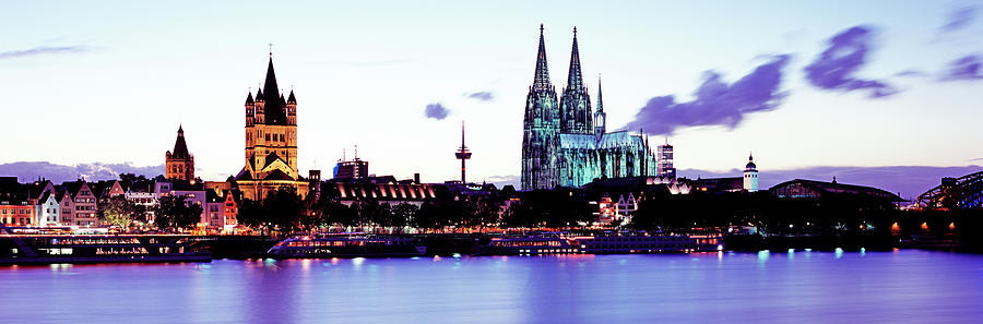 Cathedral And Rhine River Photograph by Murat Taner