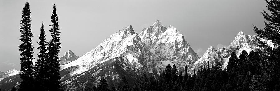 Color Image Photograph - Cathedral Group Grand Teton National by Panoramic Images