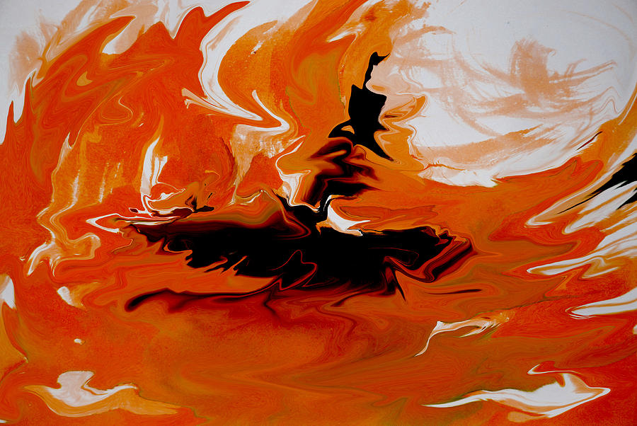 Abstract Painting - Caught In The Storm by Indira Mukherji