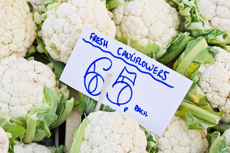 Agricultural Photograph - Cauliflower by Tom Gowanlock