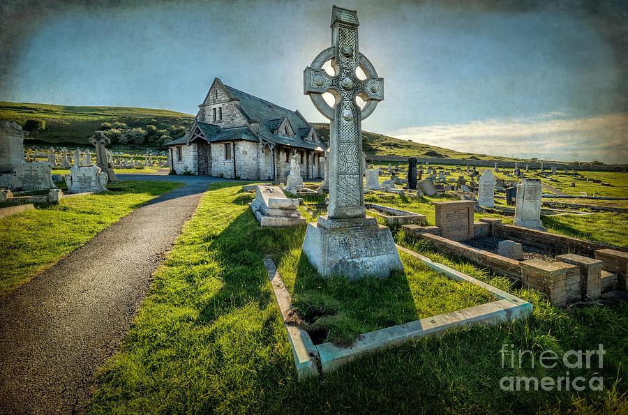 British Photograph - Celtic Cross by Adrian Evans