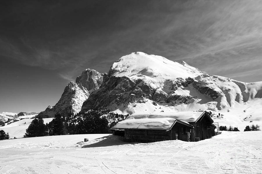 Shed Photograph - Chalets Mountain by Pier Giorgio Mariani