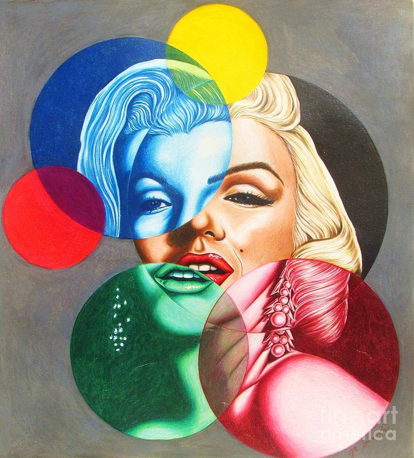 Marilyn Monroe Drawing - Champagne Bubbles by Joseph Sonday