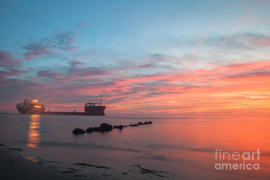 Charleston Harbor Sunset Photograph